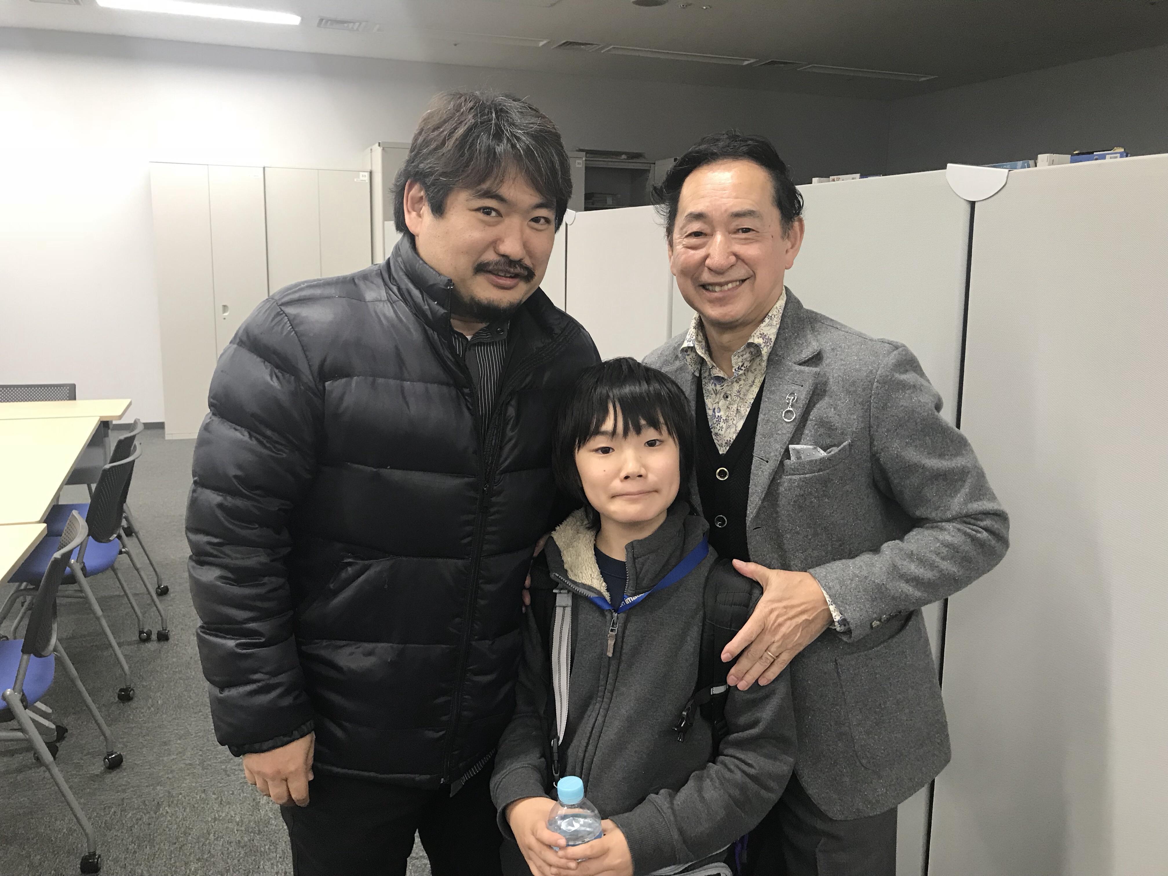 毛利館長と白井暁彦と息子